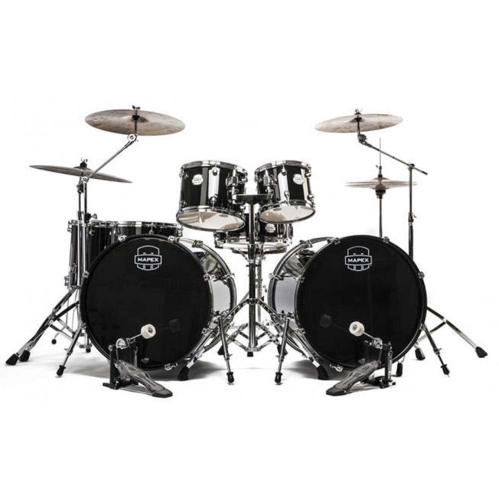 Mapex Voyager Black 7 Piece Drum Kit