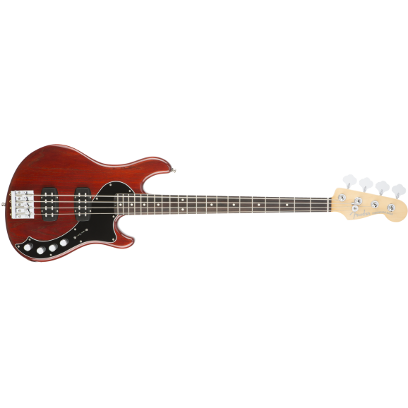 Fender American Elite Dimension Bass IV HH - Cayenne Burst