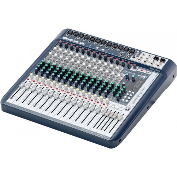 Soundcraft SIG16 Signature 16 Analog Mixing Console w/ USB & Lexicon Effects