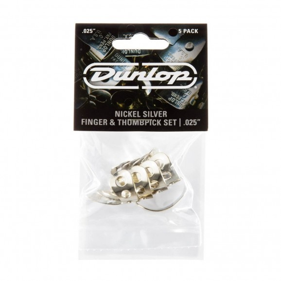 Dunlop Nickel Silver Thumb & Fingerpick Pack - 1 Thumb & 3 Fingerpicks - (0.25
