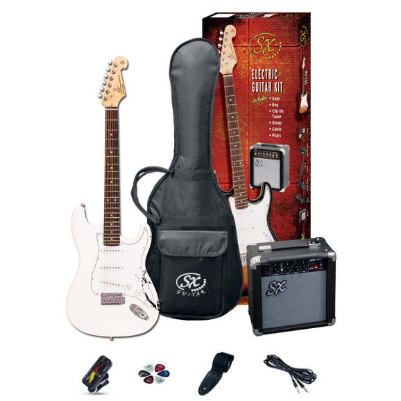 SX Electric Guitar & Amp Pack (WHITE)