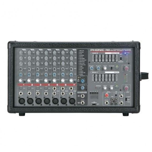 Phonic Powerpod 740R 440 watt 7 ch powered mixer