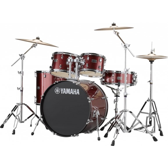 Yamaha Rydeen Drum Kit Burgundy (Package)