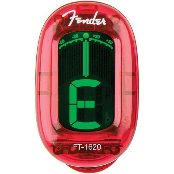 Fender California Series Clip-on Chromatic Tuner - Candy Apple Red