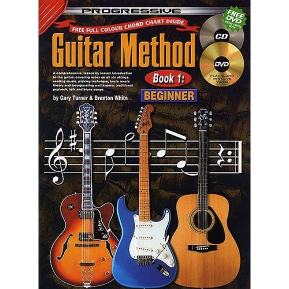 Progressive Guitar Method Book 1 CD/DVD