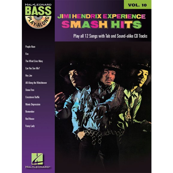 Bass Play Along Volume 10: Jimi Hendrix Smash Hits (Book and CD)