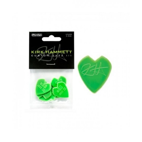 Dunlop Kirk Hammett Custom Jazz III Players Pack (6 pack)