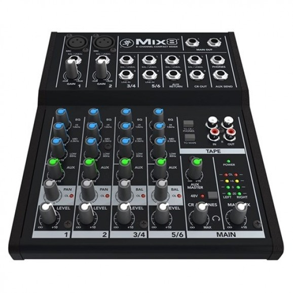 Mackie Mix8 Compact Mixer (8 channels with effects)