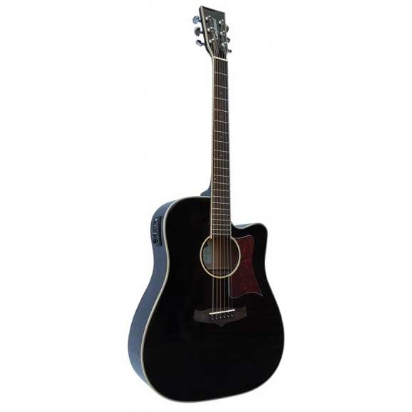 Tanglewood Winterleaf Dreadnought C/E - Black Gloss