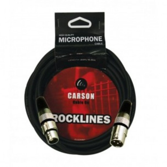 Carson ROM20L Rocklines 20ft Microphone Cable