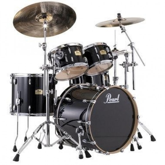 *SHELLS ONLY. Does NOT include hardware, cymbals or snare. Please note, bass drum resonant head is white with black Pearl logo.
