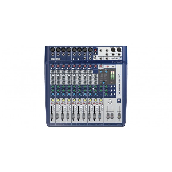 Soundcraft SIG12 Signature 12 Analog Mixing Console w/ USB & Lexicon Effects