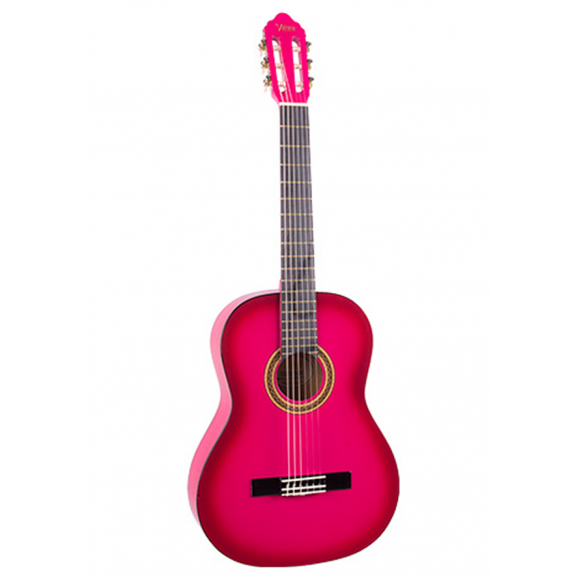 Valencia 4/4 Size Classical Guitar - Pink Burst