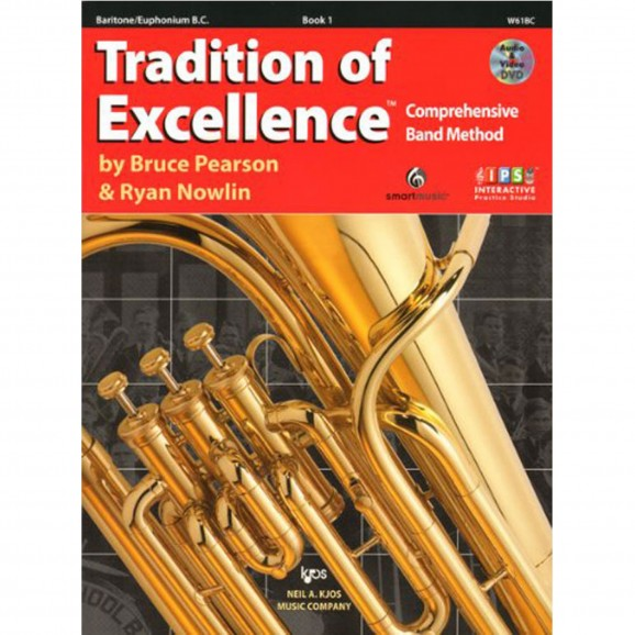 Tradition of Excellence Baritone/Euphonium Book 1  (Bass Clef)
