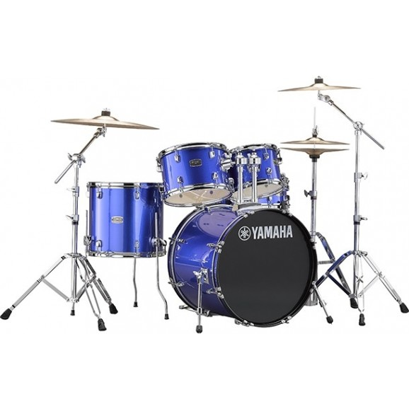 Yamaha Rydeen Drum Kit - Blue (w/hardware, cymbals, and throne)